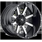 Fuel Wheels <br /> D261 - Maverick Black and Machined