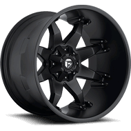 Fuel D509 Octane Deep Lip in Matte Black Finish Wheels