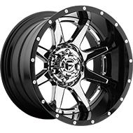 Fuel Wheels <br /> D237 Rampage Chrome w/ Gloss Black Lip