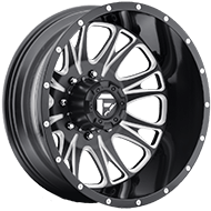 Fuel Wheels <br /> D213 - Throttle - Dually Rear - Black Milled Finish