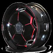 Full Moon Wheels Black/Red