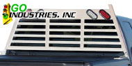 Go Industries<br /> Heavy Duty Lighted Headache Racks White
