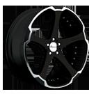 Giovanna Wheels<br> Dalar Machined Black