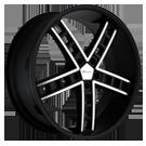 Giovanna Wheels<br> Gabbs Machined Black
