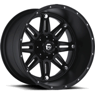 Fuel D531 Hostage Deep Lip Matte Black Wheels