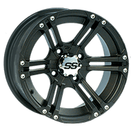 ITP SS Alloy 212 Matte Black Wheels