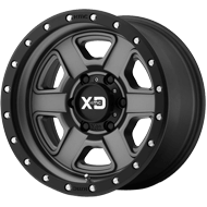 KMC XD133 Fusion Off-Road Satin Gray w/ S-blk Lip Wheel