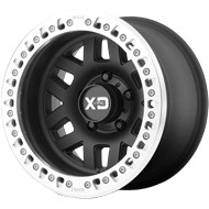 XD SERIES BY KMC WHEELS<br /> Machete Crawl Satin Black W Machined Ring