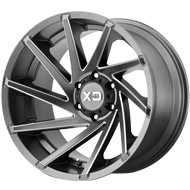 KMC XD834 Cyclone Grey Milled Wheels