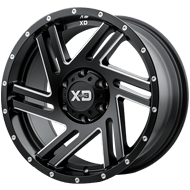 KMC XD835 Swipe Satin Black Milled Wheels