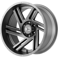 KMC XD835 Swipe Gun Metal Milled Wheels