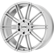 KMC KM707 Channel Brushed Silver Wheels