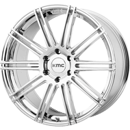 KMC KM707 Channel Chrome Plated Wheels