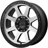 KMC XD134 Addict 2 Matte Black w/ Machined Face Wheels