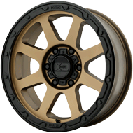 KMC XD134 Addict 2 Matte Bronze w/ Matte Black Lip Wheels