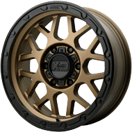 KMC XD135 Grenade OR Matte Bronze w/ Matte Black Lip Wheels