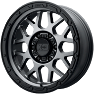 KMC XD135 Grenade OR Matte Grey w/ Matte Black Lip Wheels