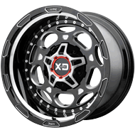 KMC XD837 Demodog Gloss Black Milled Wheels