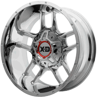 KMC XD839 Clamp Chrome Plated Wheels
