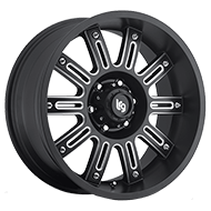 LRG Apache 102 Black Milled Wheels