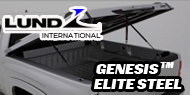 Genesis Elite Steel  <br>Lund Tonneau Covers Black