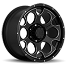 Mamba Wheels <br /> 589B M17 Gloss Black with CNC Milled Accents