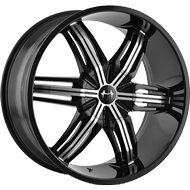 Mazzi Wheels<br>792 Black Machined Face
