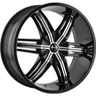 Mazzi Rush 792 Black Machined Face Wheels