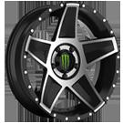 Monster Energy 648MB Wheels <br> Gloss Black
