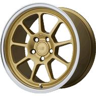Motegi Racing MR135 Gold Center w/ Machined Lip Wheels