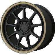 Motegi Racing MR135 Matte Black Center w/ Bronze Lip Wheels