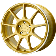 Motegi Racing MR138 Gold w/ Machined Lip Wheels