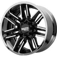 Moto Metal MO202 Gloss Black Milled Center w/ Chrome Lip Wheels