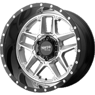 Moto Metal MO987 Sentry Gloss Silver Center w/ Gloss Black Lip Wheels