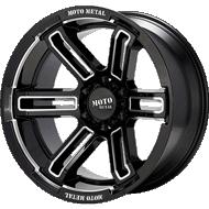 Moto Metal MO991 Ruckus Gloss Black Milled Wheels