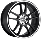 MSR Wheels <br>043 Super Finish Black