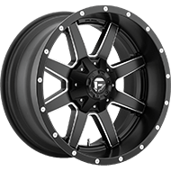 Fuel D538 Maverick Black and Milled Wheels