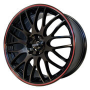 Maxxim Wheels </br> Maze Gloss Black w/ Red Strip