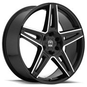 Motiv Wheels<br /> 415 MB Mythic Gloss Black Finish