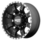 MOTO METAL Wheels <br />MO968 Satin Black w/ Machined Flange