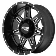MOTO METAL Wheels <br />MO975 Satin Black w/ Milled Accent