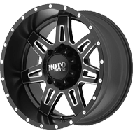 Moto Metal Wheels<br> MO975 Satin Black w/ Milled Accent