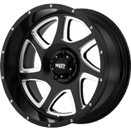 Moto Metal Wheels <br>MO976 Satin Black w/ Milled Accent