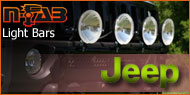 N Fab Light Bars Jeep