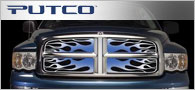 Putco Flaming Inferno <br / >Blue Grille Inserts