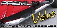 Premium Value <br>3 Inch Round Nerf Bars