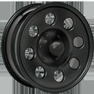 Pacer Wheels <br />237B Soft 8 Black
