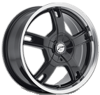 Platinum Wheels<br /> 210 Tracker Gloss Black with<br />Diamond Cut and Clear Coat