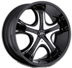 Platinum Wheels<br /> 415 Patriarch Gloss Black<br /> with Chrome insert
