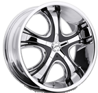 Platinum Wheels<br /> 415 Patriarch Chrome<br /> with Gloss Black Insert